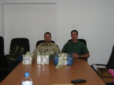 Bryan and I with our largest single pay day. $3.3 million dollars. I was 31 years old, a Department of Defense civilian employee and a captain in the US Marine Corps Inactive Reserve.